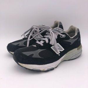 New Balance 993 Heritage Shoes M S 6.5 Black/Grey